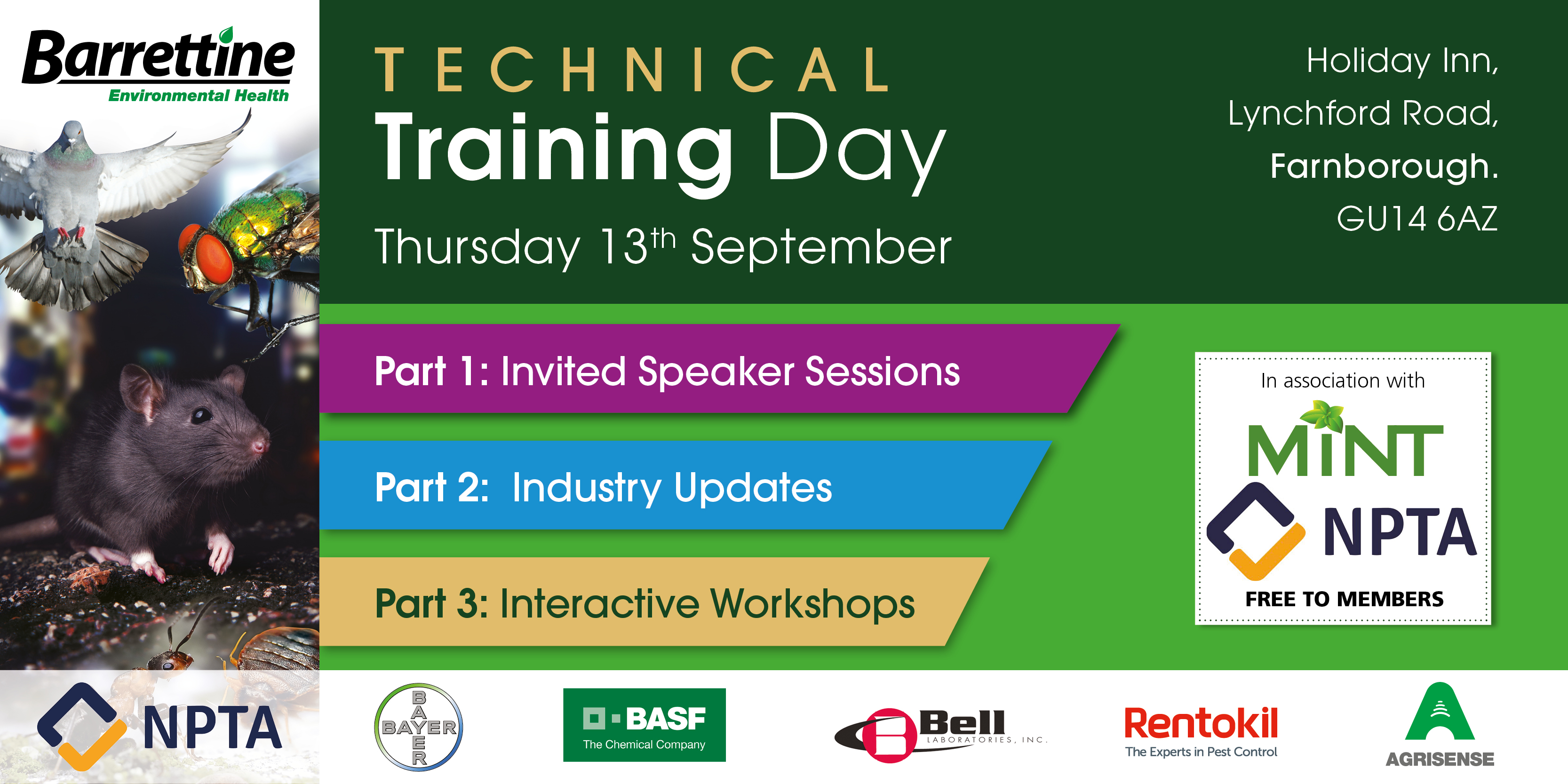 Barrettine & NPTA Technical Training Day Farnborough