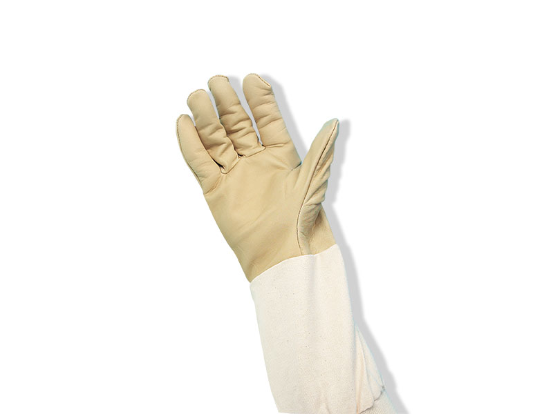 Washable Tan Leather Glove