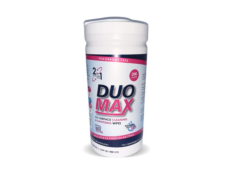 Duomax Sanitising Wipes