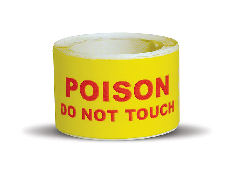 Poison Do Not Touch Labels